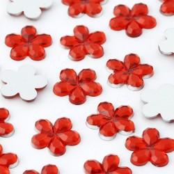 Dżety kwiatki 10mm 1000 szt. (CZERWONE)