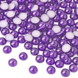 Półperełki okrągłe 3 mm (fioletowy) - 10000 szt.