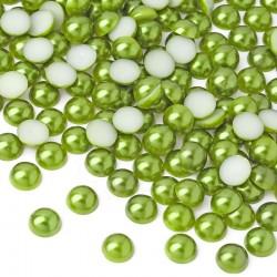 Półperełki okrągłe 10 mm (zielony) - 2000 szt.