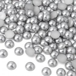 Półperełki okrągłe 5 mm (srebrny) - 5000 szt.