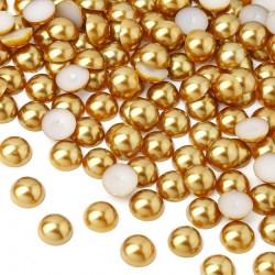 Półperełki okrągłe 8 mm (złoty) - 2000 szt.