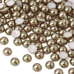 Półperełki okrągłe 10 mm (brązowy) - 2000 szt.