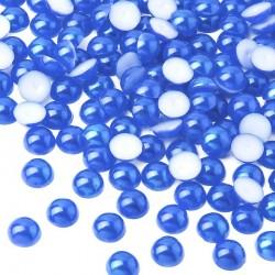 Półperełki okrągłe 3 mm (niebieski) - 10000 szt.