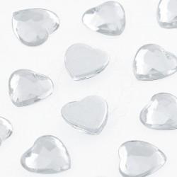 Dżety serca 10 mm (kryształowy) - 2000 szt.