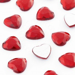Dżety serca 20 mm (czerwony) - 200 szt.