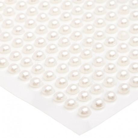 Półperełki okrągłe 3 mm (ecru) - 176 szt.