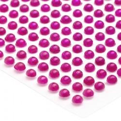 Półperełki okrągłe 3 mm (różowy ciemny) - 176 szt.