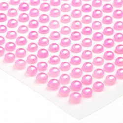 Półperełki okrągłe 4 mm (różowy) - 176 szt.