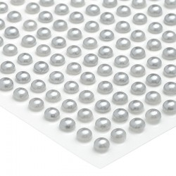 Półperełki okrągłe 4 mm (srebrny) - 176 szt.