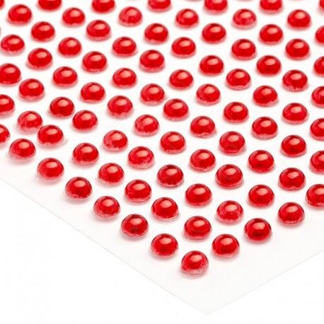 Półperełki okrągłe 6 mm (czerwony) - 100 szt.