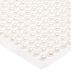 Półperełki okrągłe 6 mm (ecru) - 100 szt.