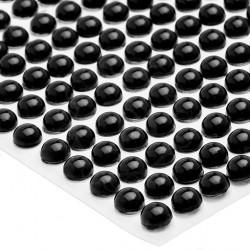 Półperełki okrągłe 5 mm (czarny) - 100 szt.