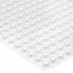 Półperły samoprzylepne połączone 6 mm (białe) - 300 szt.