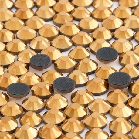 Cyrkonie ss30 hot-fix (6,5 mm) złoty (gold) 288 szt.