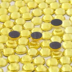 Cyrkonie ss16 hot-fix (3,5 mm) żółty cytrynowy (citrine) 1440 szt.