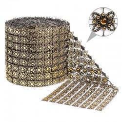 Taśma dekoracyjna 12 cm x 9m (złoto-czarna) - 1 szt.