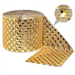 Taśma dekoracyjna 12 cm x 9m (złota jasna) - 1 szt.