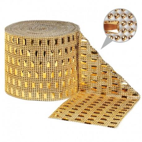 Taśma dekoracyjna 11,5 cm x 9m (złota) - 1 szt.