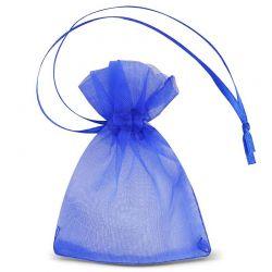 Woreczki SDB z organzy 7 cm x 9 cm (niebieskie) - 25 szt.