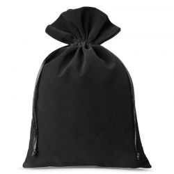 Woreczki welurowe 26 cm x 35 cm (czarne) - 3 szt.