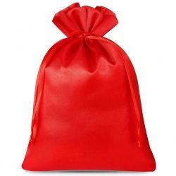 Woreczki satynowe 12 cm x 15 cm (czerwone) - 10 szt.