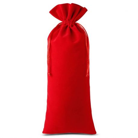 Woreczek welurowy 16 cm x 37 cm (czerwony) - 1 szt.