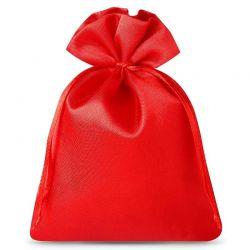 Woreczki satynowe 10 cm x 13 cm (czerwone) - 10 szt.