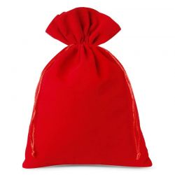 Woreczki welurowe 26 cm x 35 cm (czerwone) - 3 szt.