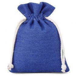 Woreczki z jeansu 12 cm x 15 cm (niebieskie) - 3 szt.