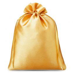 Woreczki satynowe 26 cm x 35 cm (złote) - 3 szt.