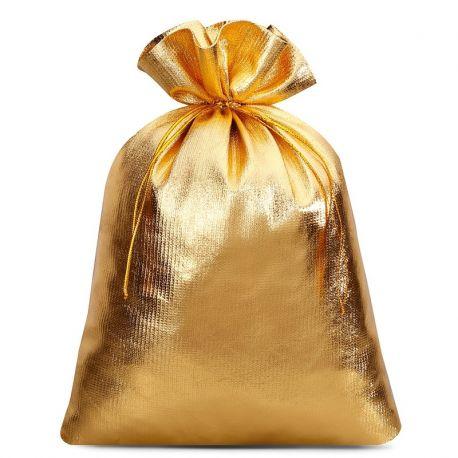 Woreczki metaliczne 22 cm x 30 cm (złote) - 5 szt.