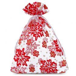 Woreczki z organzy 15 cm x 20 cm (Boże Narodzenie) - 10 szt.