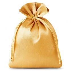 Woreczki satynowe 10 cm x 13 cm (złote) - 10 szt.