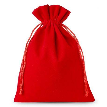 Woreczki welurowe 22 cm x 30 cm (czerwone) - 5 szt.