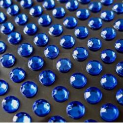 Cyrkonie okrągłe 3 mm (niebieski) - 176 szt.