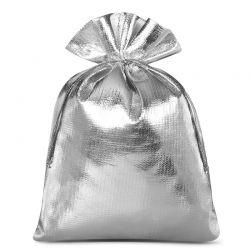 Woreczki metaliczne 12 cm x 15 cm (srebrne) - 10 szt.