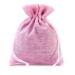 Woreczki jutowe 8 cm x 10 cm (różowe jasne) - 10 szt.