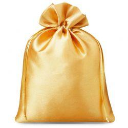 Woreczki satynowe 22 cm x 30 cm (złote) - 5 szt.