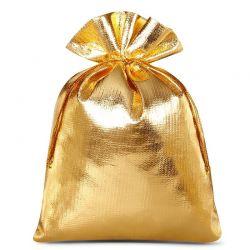 Woreczki metaliczne 12 cm x 15 cm (złote) - 10 szt.