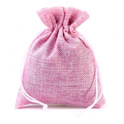 Woreczki jutowe 15 cm x 20 cm (różowe jasne) - 5 szt.