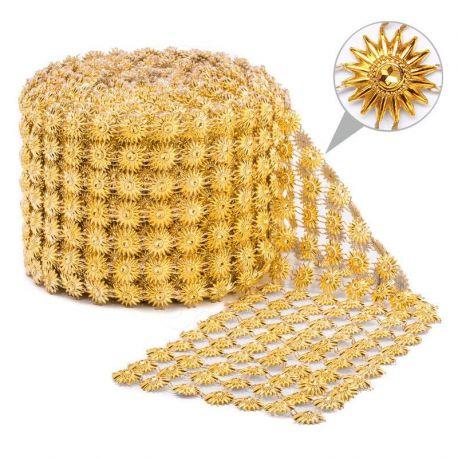 Taśma dekoracyjna 11 cm x 9m (złota) - 1 szt.