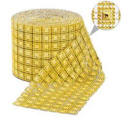 Taśma dekoracyjna 10,5 cm x 9m (złota) - 1 szt.