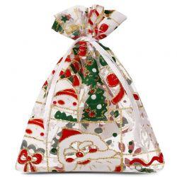Woreczki z organzy 30 cm x 40 cm (Boże Narodzenie) - 3 szt.