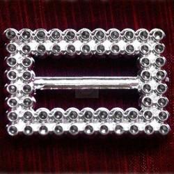 50 szt. Klamra ozdobna (srebrna) BUC3.20