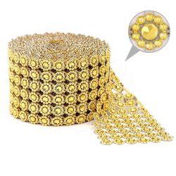 Taśma dekoracyjna 10 cm x 9m (złota) - 1 szt.
