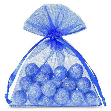 Woreczki z organzy 10 cm x 13 cm (niebieskie) - 25 szt.