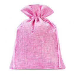 Woreczki jutowe 18 cm x 24 cm (różowe jasne) - 5 szt.