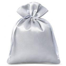 Woreczki satynowe 6 cm x 8 cm (srebrne) - 10 szt.