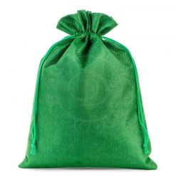 Woreczki jutowe 26 cm x 35 cm (zielony) - 1 szt.