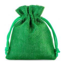 Woreczki jutowe 9 cm x 12 cm (zielone) - 10 szt.